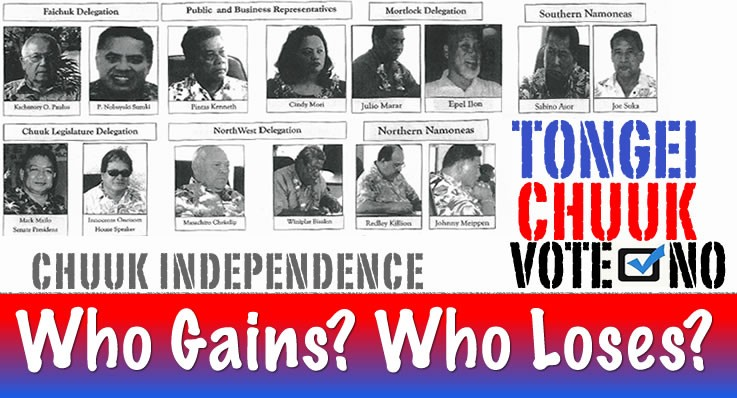 Who Gains or Loses from an Independent Chuuk?